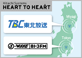 「Hitachi Systems HEART TO HEART」 東京のFM局J-WAVEおよび東北放送